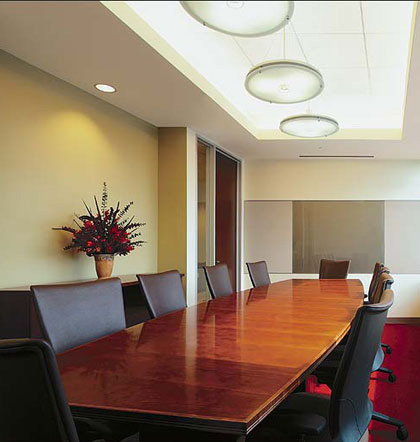 Conference table in office