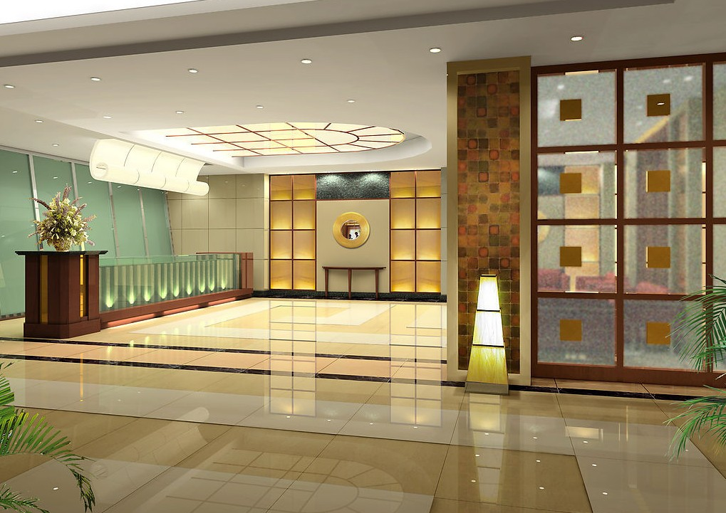 Design of reception halls for House interior design hall