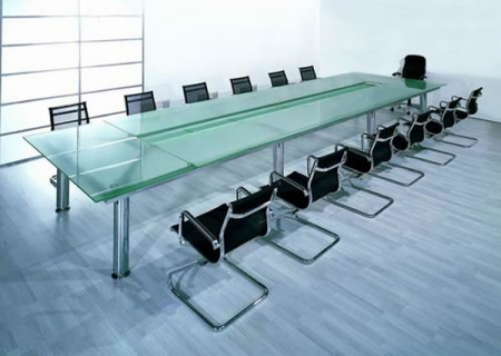 Glass Made Conference Table