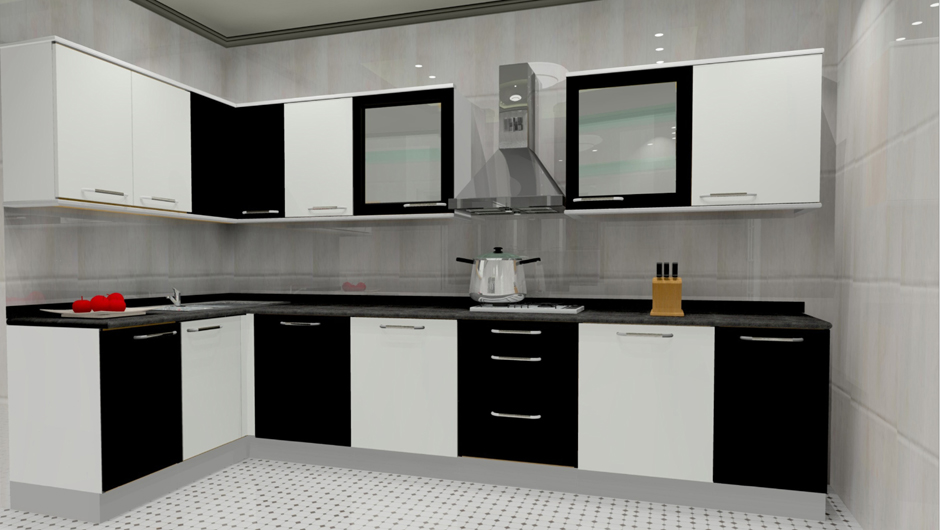 L Shaped Kitchen Living Room