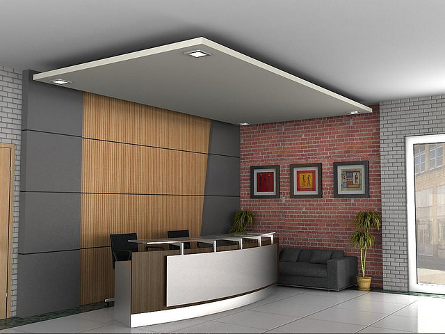 Attractive office reception design delight your visitor for Bureau reception