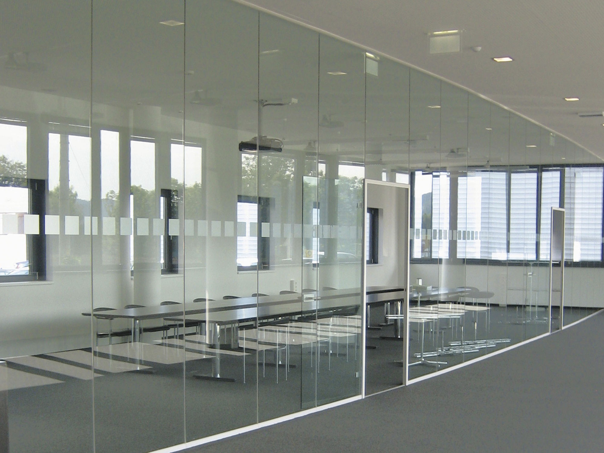 Glass partitions in offices efficient enterprise Interior glass partition systems
