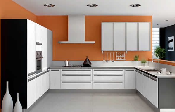 C shaped kitchen decoration idea efficient enterprise for Kichan farnichar dizain