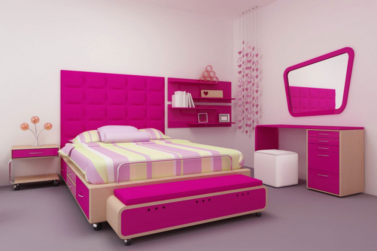 Girls Love Pink And For The Princess In Your Home You Can Give A Thought  About This Décor. The Idea That Is Used In This Room Is To Give Colours To  The ...