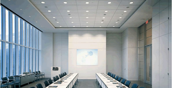 False Ceiling Installation For Office With Lights