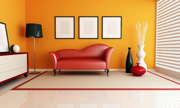 what colour of your room is telling about your personality - Orange