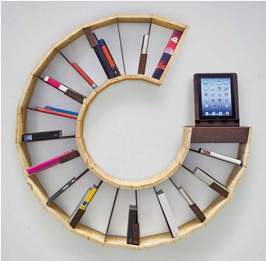 the circular pattern bookshelf ideas