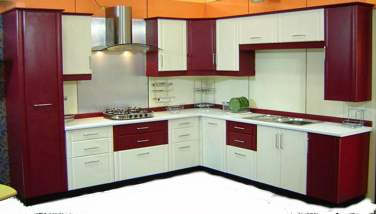Dual Kitchen Look With Red And White