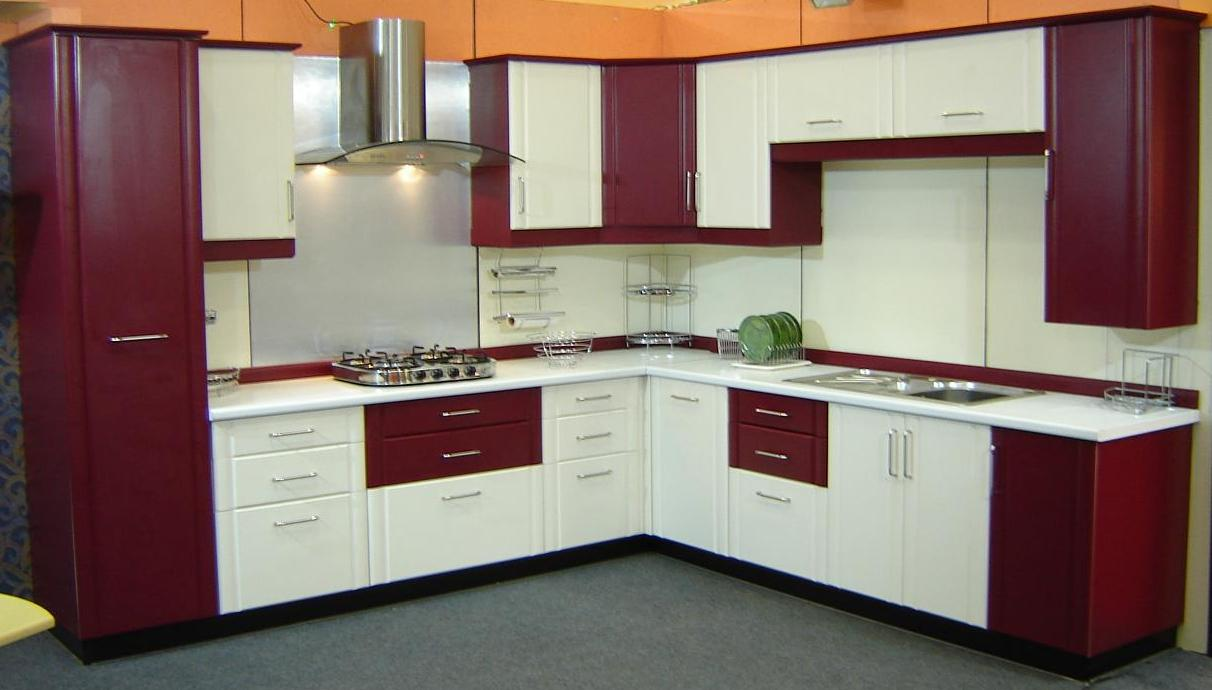 Dual Color Kitchen Furniture Design Efficient Enterprise