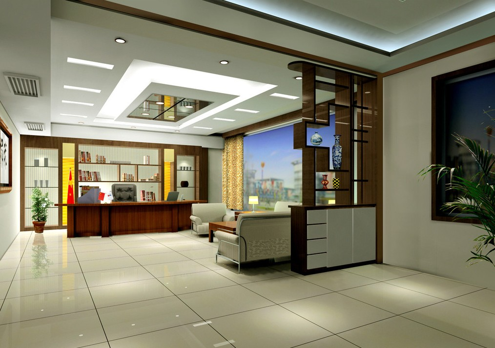 Manager Cabin Office Design With Chinese Partition