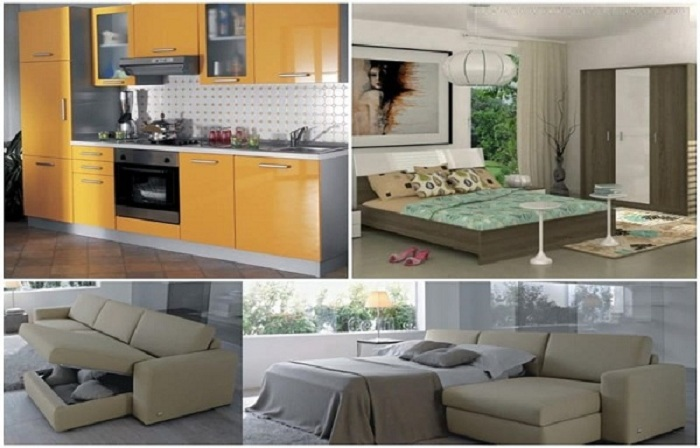 2 BHK Flat Interior Design for Optimum Use of Space