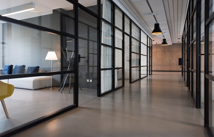 glass partitions in Kolkata office